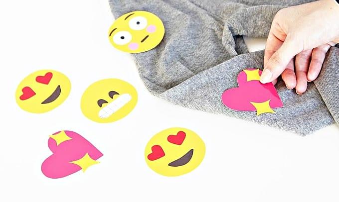 emoji shoulder patches
