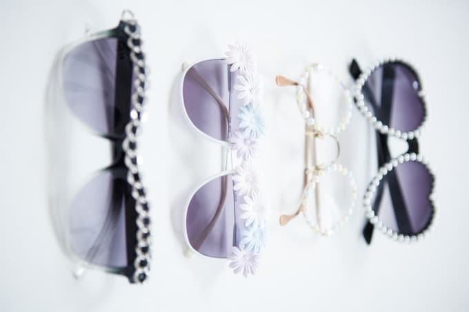 diy embellished sunglasses