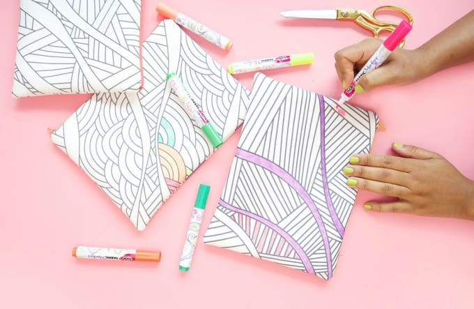 coloring book purse