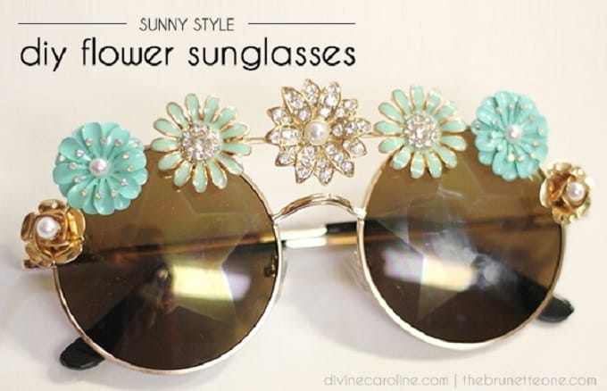 diy flower sunglasses
