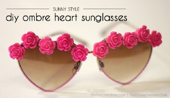 diy ombre heart glasses