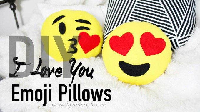 heart emoji pillows