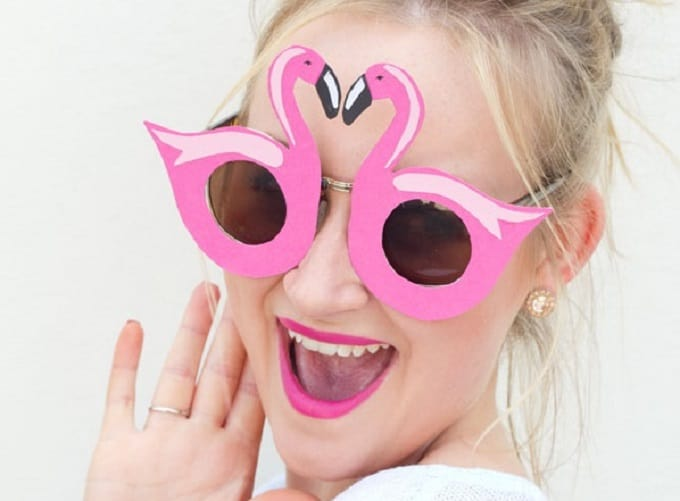 pineapple flamingo sunglasses