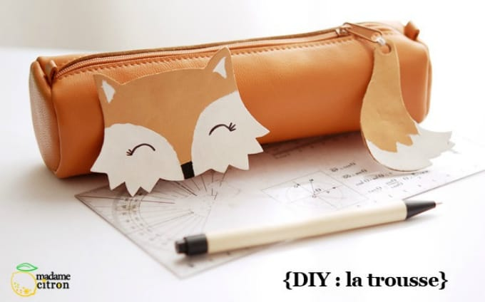 DIY fox pencil case