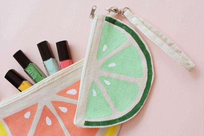 half-circle citrus purses