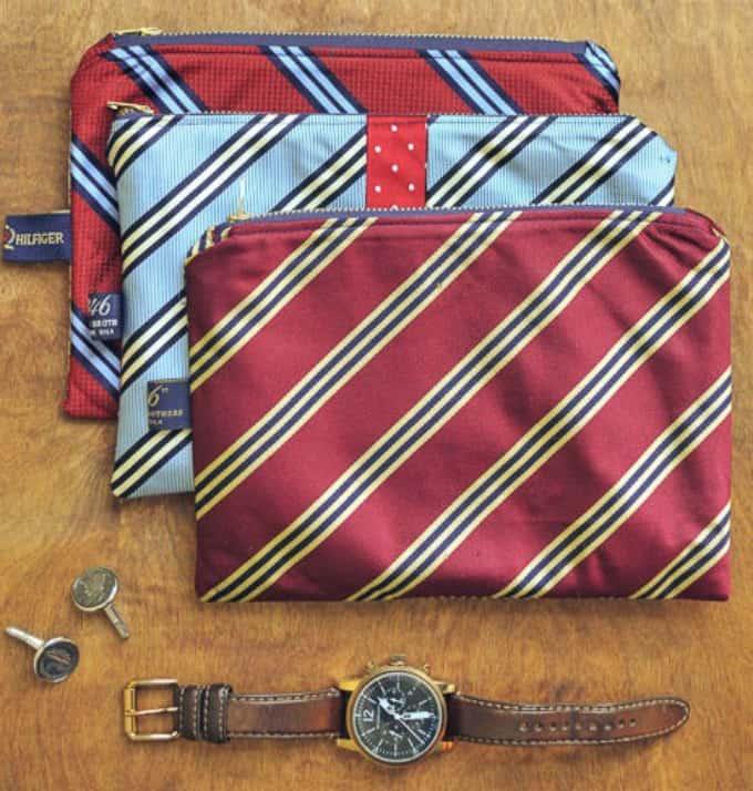 DIY necktie pouches