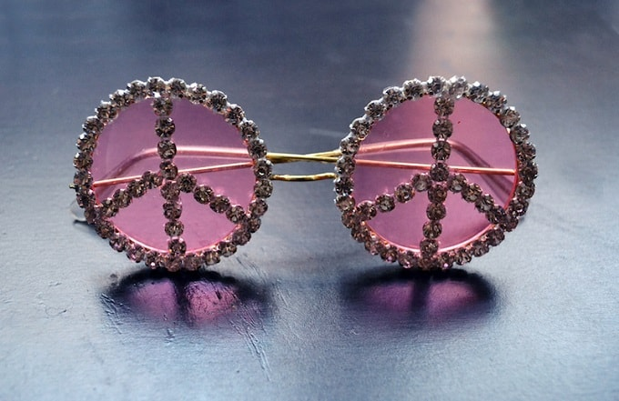 rhinestone peace sunglasses