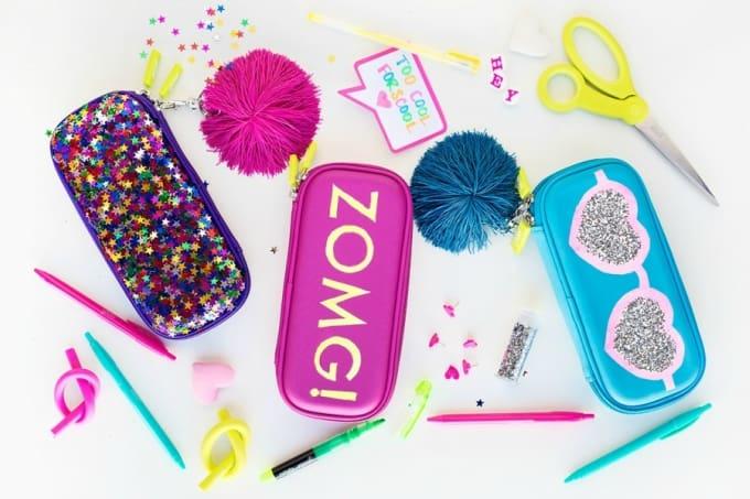 DIY glitter pouches