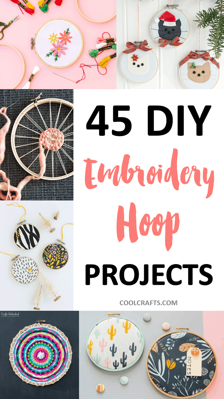 11719e72e6c 45 Stunning Embroidery Hoop DIY Projects • Cool Crafts
