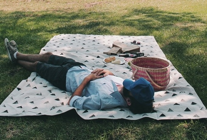patterned picnic blanket