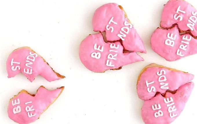 best friend heart donuts