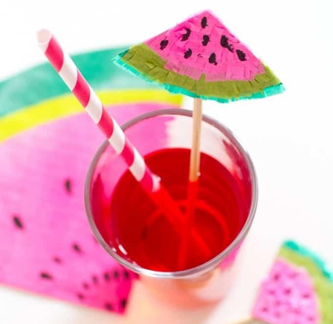 watermelon drink stirrers