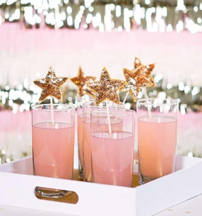 sequin star drink stirrers