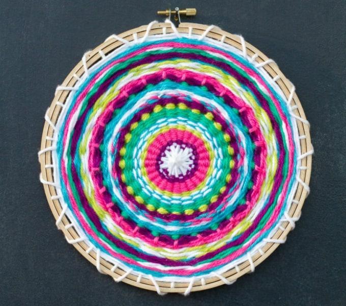 round diy weaving loom