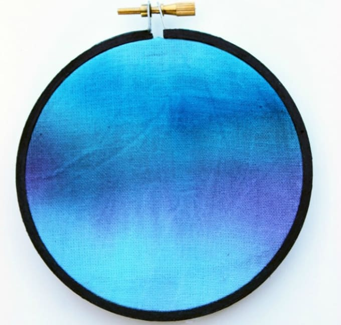 watercolor embroidery hoop art