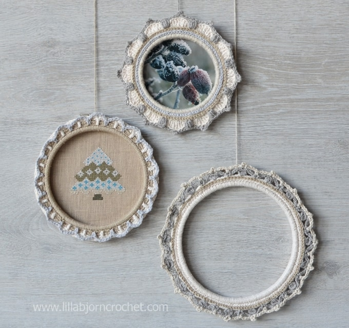 how to turn embroidery hoops into photo