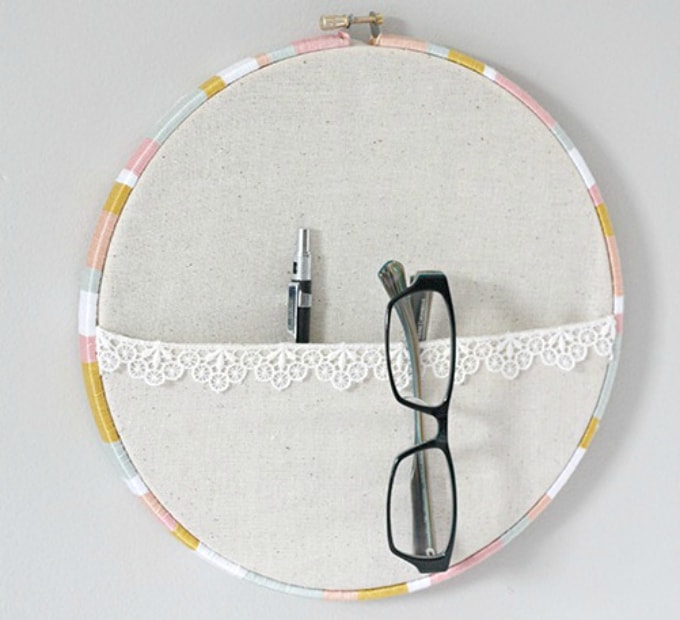 embroidery hoop pocket