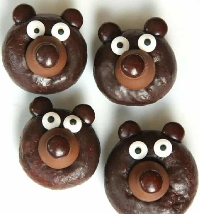 DIY bear donuts