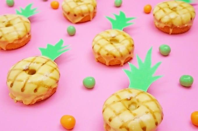 DIY pineapple donuts