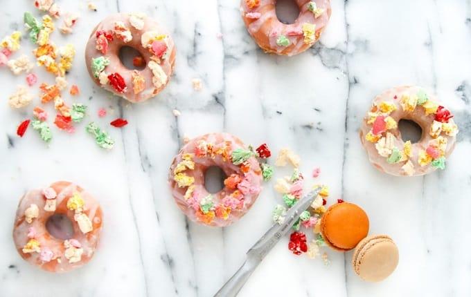 macarons glazed donuts