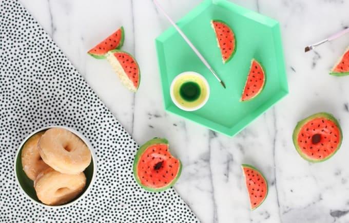 watermelon glazed donuts