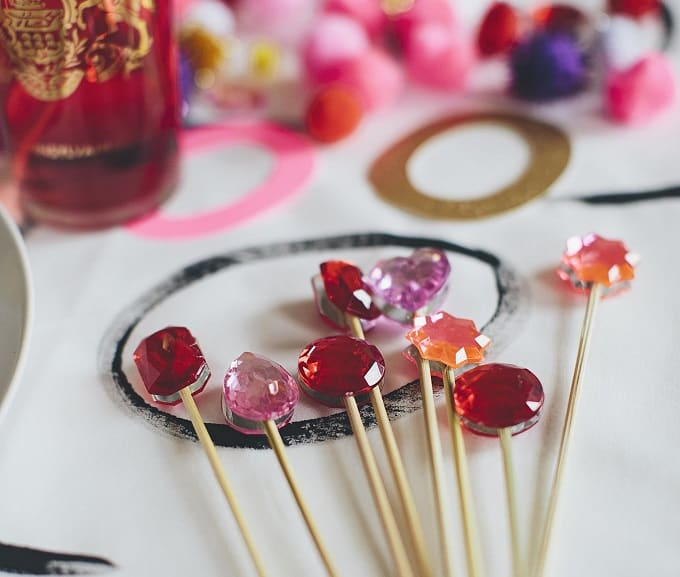 gemstone drink stirrers