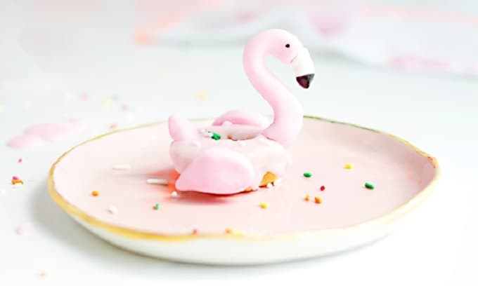 DIY flamingo donut