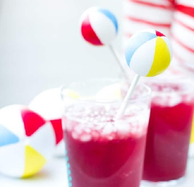 beach ball drink stirrers