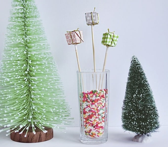 holiday present drink stirrers