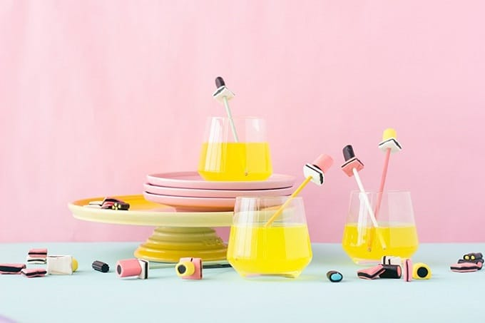 licorice all sorts drink stirrers
