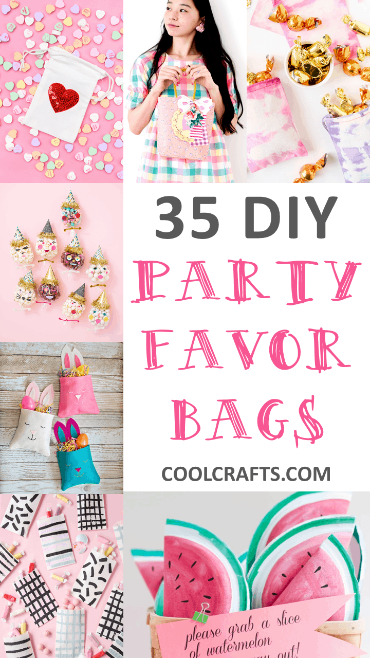 We rounded up a list of 35 eye-catching party goodie bag ideas that you can create for your next celebration - CoolCrafts.com