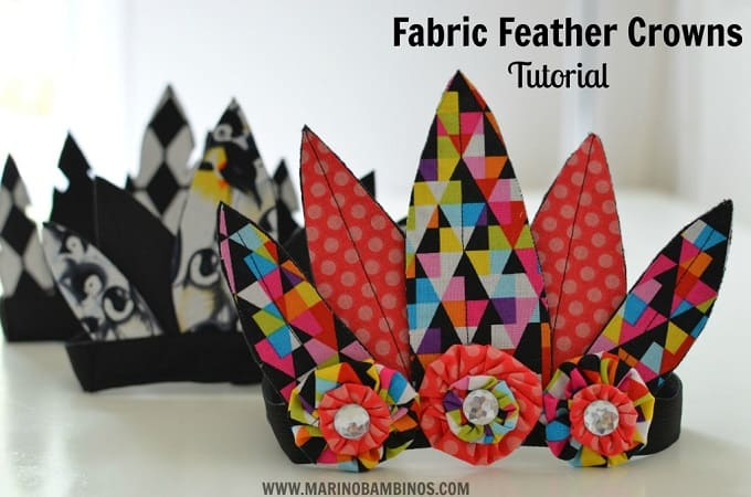 Fabric Feather Crowns - Check out our list of 39 other DIY crown and tiaras that you can create for your next party | Coolcrafts.com
