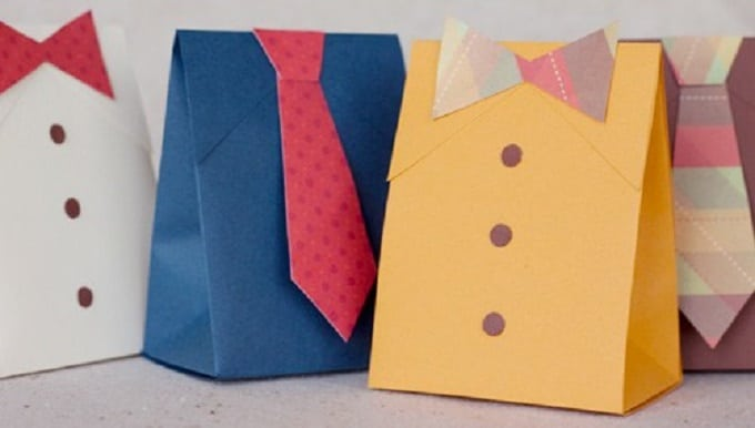 Father's Day Gift Boxes - Check out 34 other eye-catching goodie bag ideas that you can make for your next party. | Coolcrafts.com