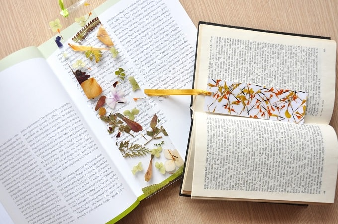 Pressed Flower Bookmarks - We compiled a list of 39 other DIY pressed flower ideas for you to make | Coolcrafts.com