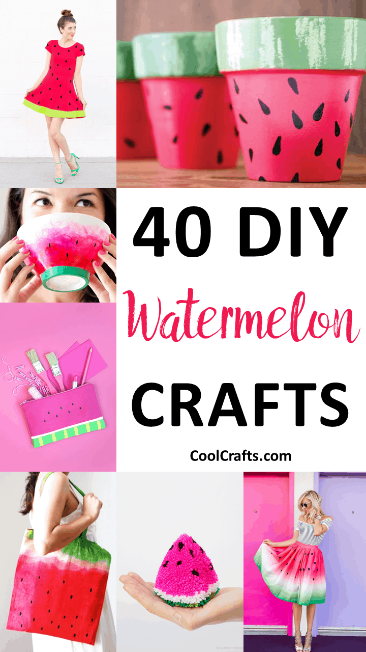 Have a Fruity Fun Time Making These 40 Watermelon Craft Ideas - CoolCrafts.com