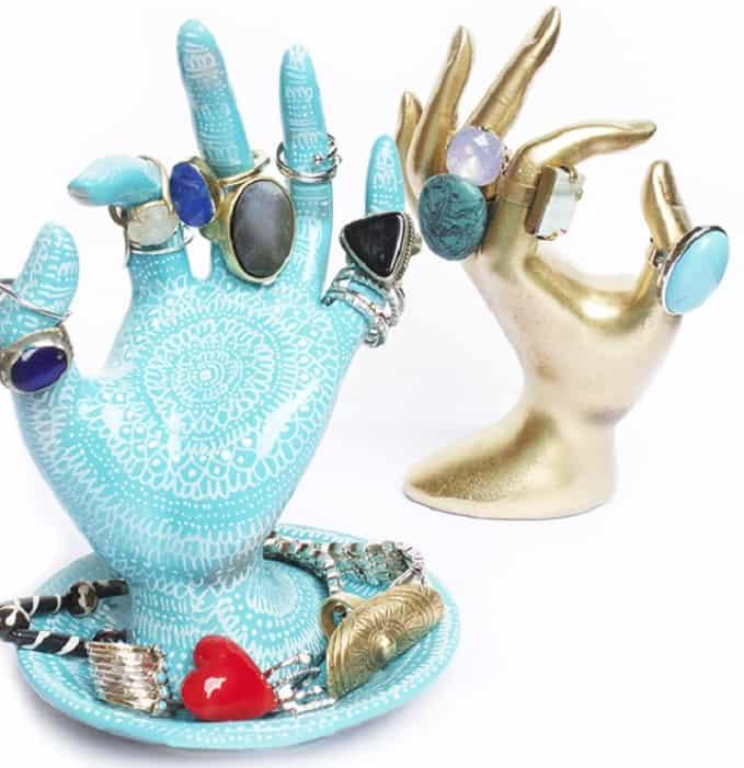 DIY hand ring holders