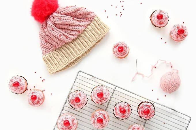 DIY Crochet Cupcake Beanie