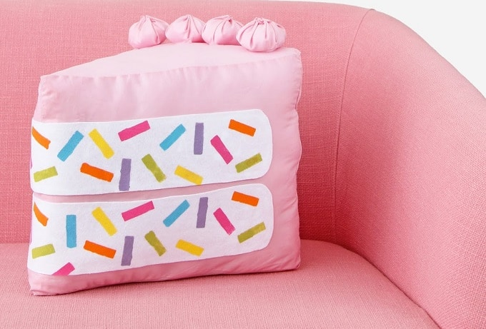 No Sew Funfetti Cake Pillow