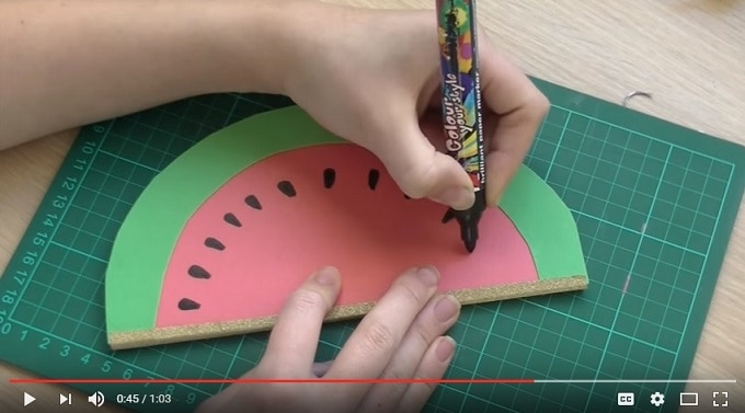 DIY Watermelon Notebook
