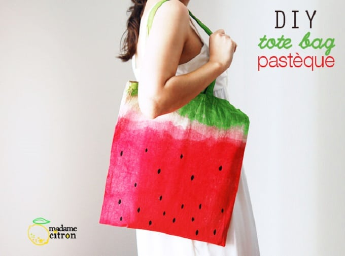 Watercolor Watermelon Tote Bag
