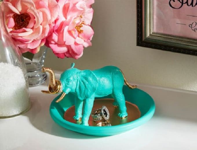 African Elephant Ring Holder