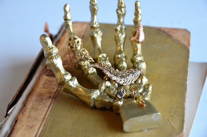 Skeletal Hand Ring Holder