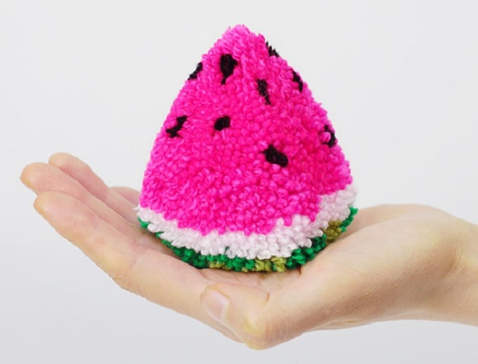 DIY Watermelon Pom Pom