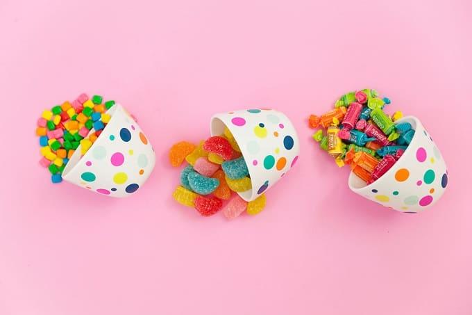DIY confetti candy bowls