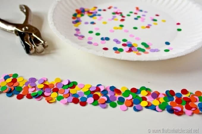 confetti decorative tape