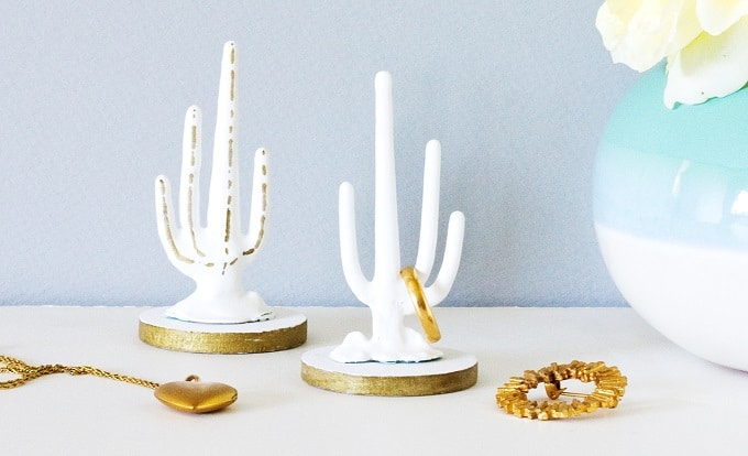 Porcelain Cactus Ring Holder