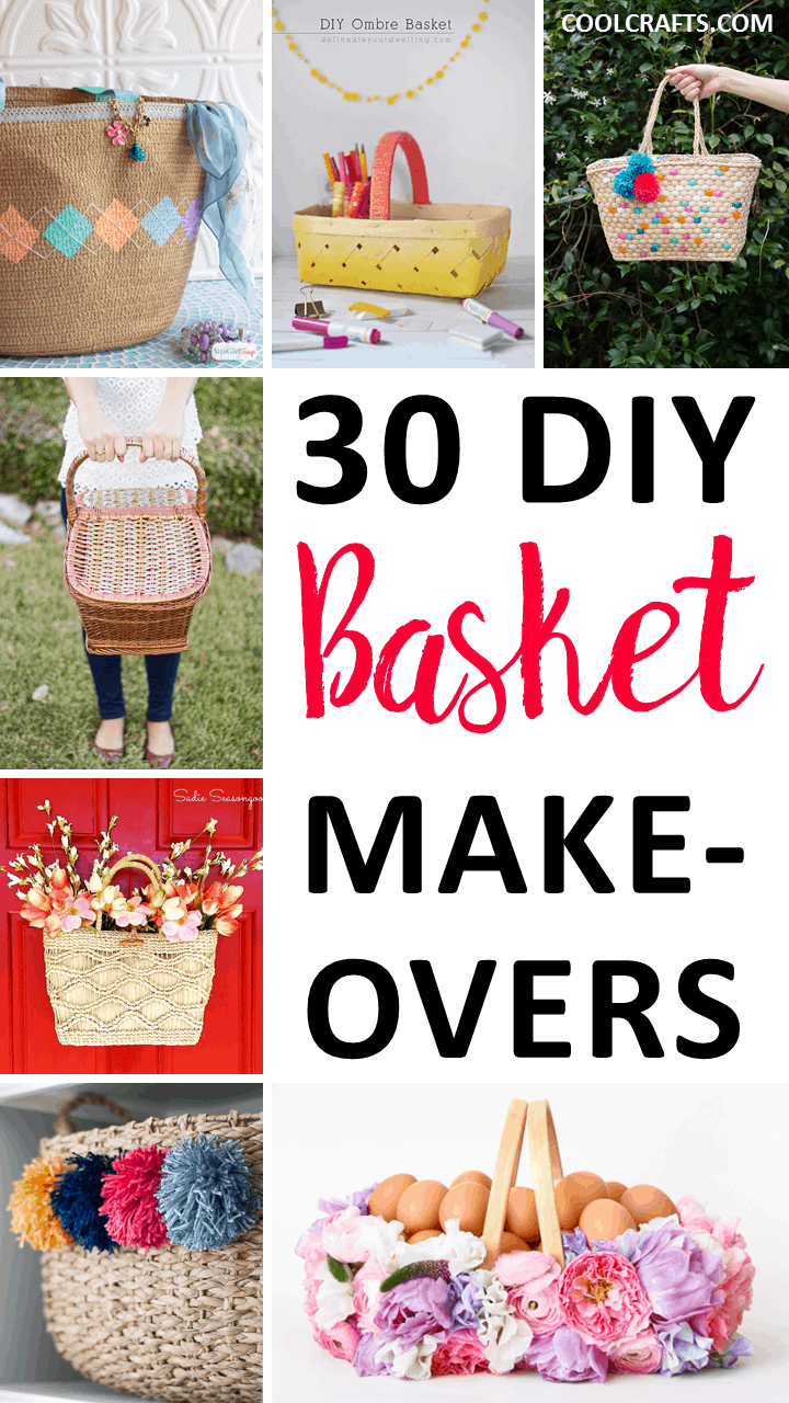 30 DIY Basket Ideas You Can Transform From Drab to Fab - CoolCrafts.com