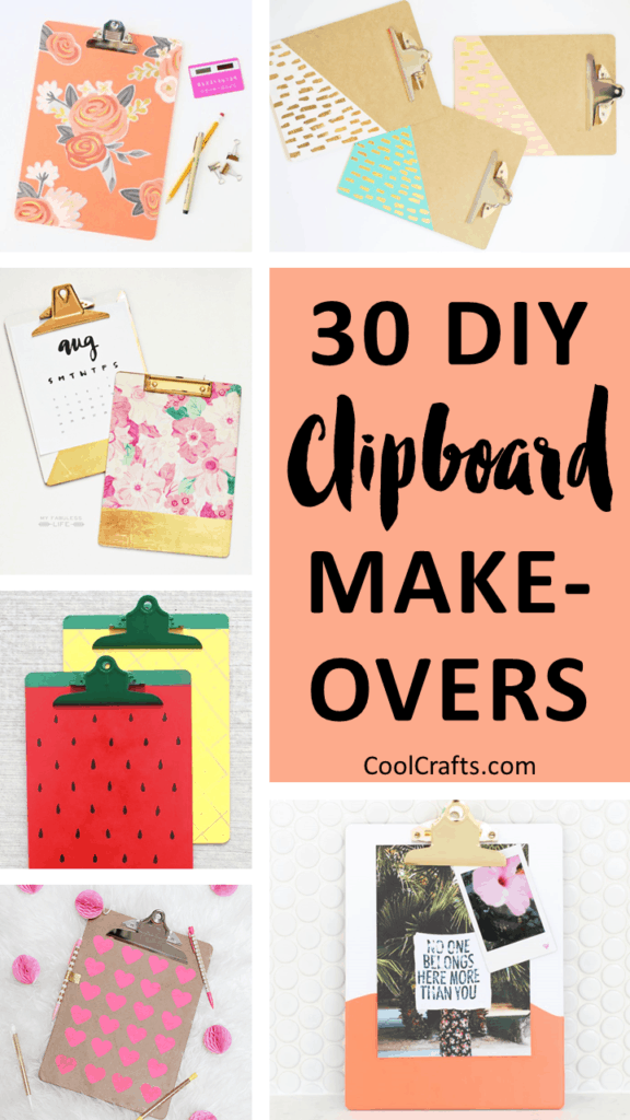 30 Ways to Personalize Clipboards DIY Style