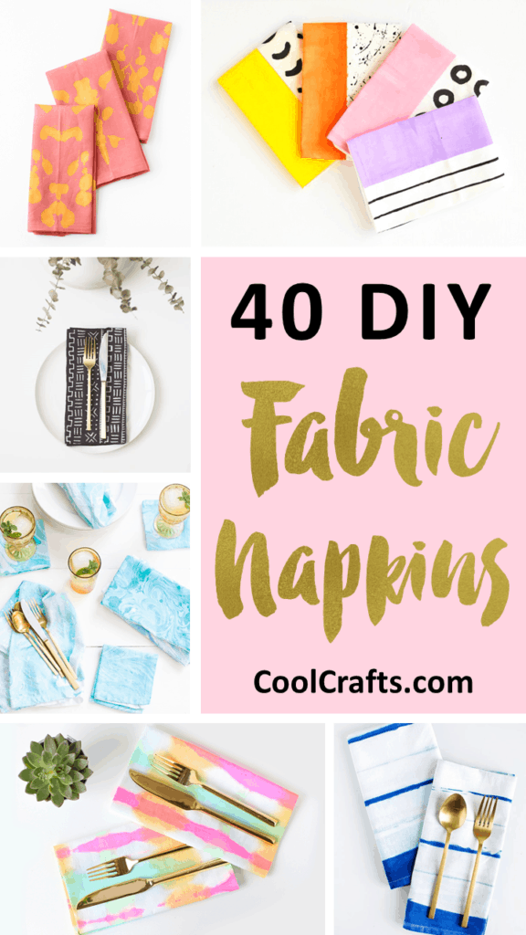 40 DIY Stylish Fabric Napkin Projects That Will Last For Years!