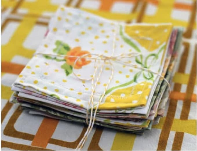 vintage sheet napkins